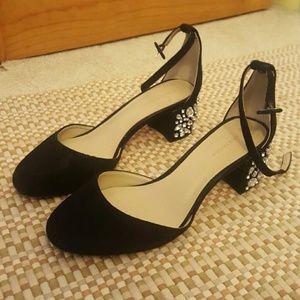Ann Taylor jeweled block heels